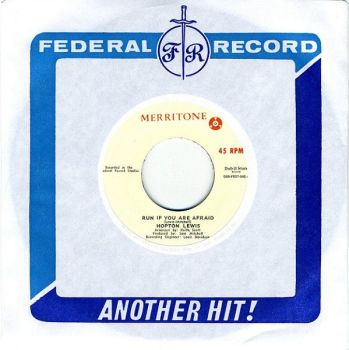 Hopeton Lewis - Run If You Are Afraid / Sounds And Pressure - DSR-FED7-043