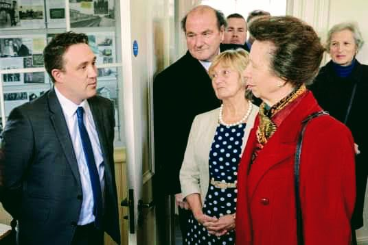 Managing Director Oliver Fytche-Taylor discusses regeneration potential in Market Rasen, Lincolnshire with HRH Princess Anne