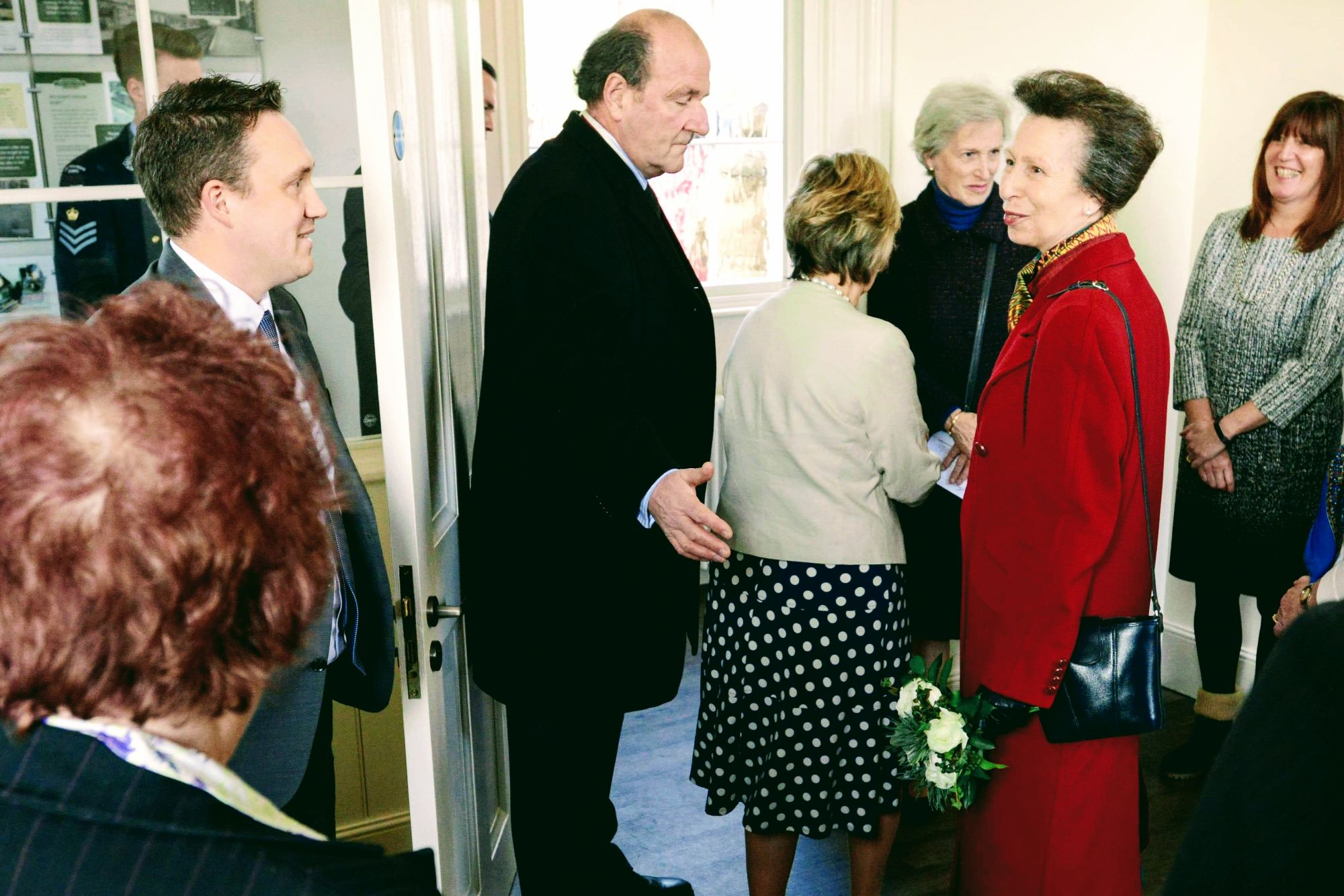 Managing Director Oliver Fytche-Taylor meets HRH Princess Anne at the newly renovated Market Rasen Railway Station