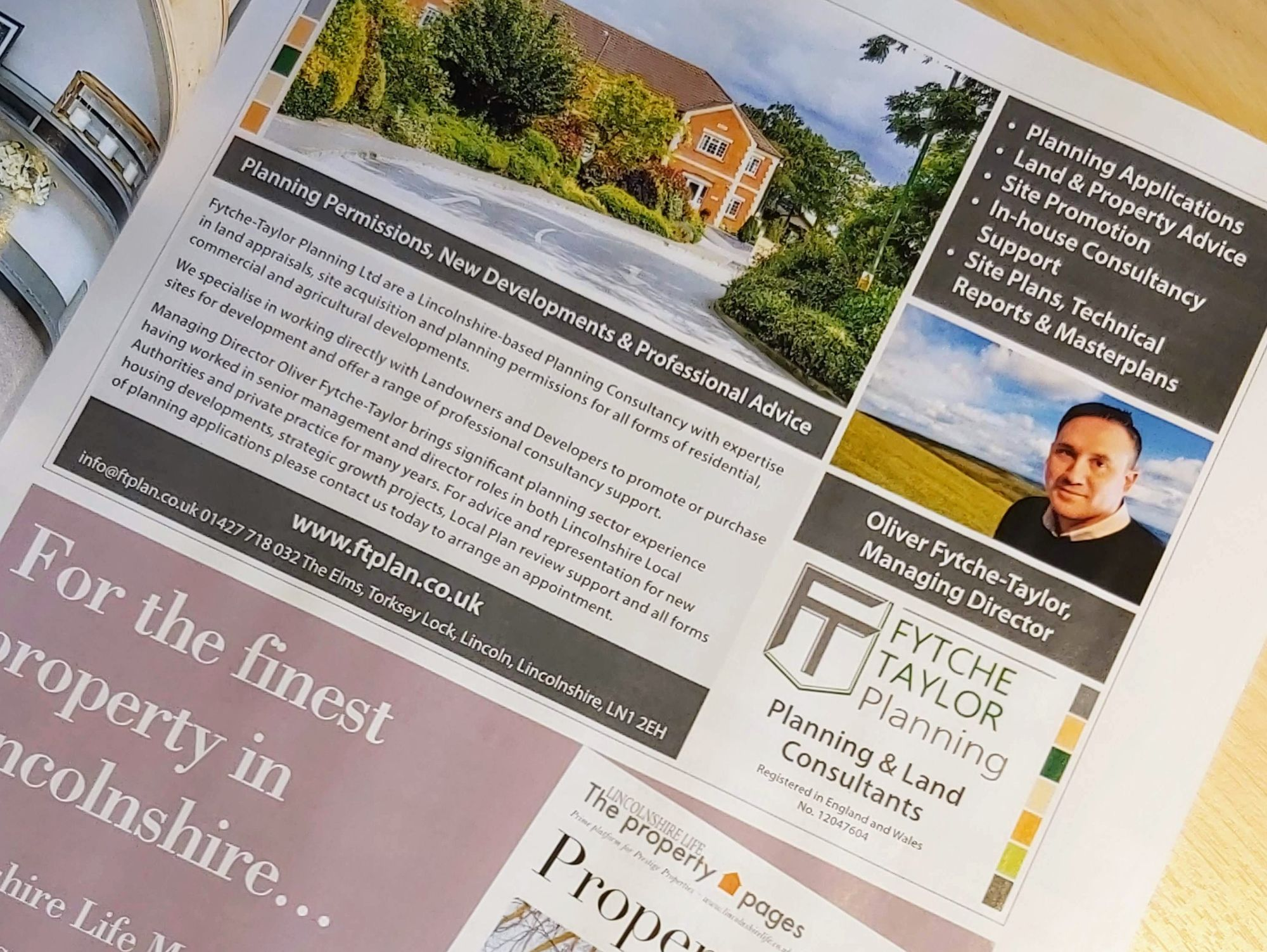 Lincolnshire Life Fytche-Taylor Planning