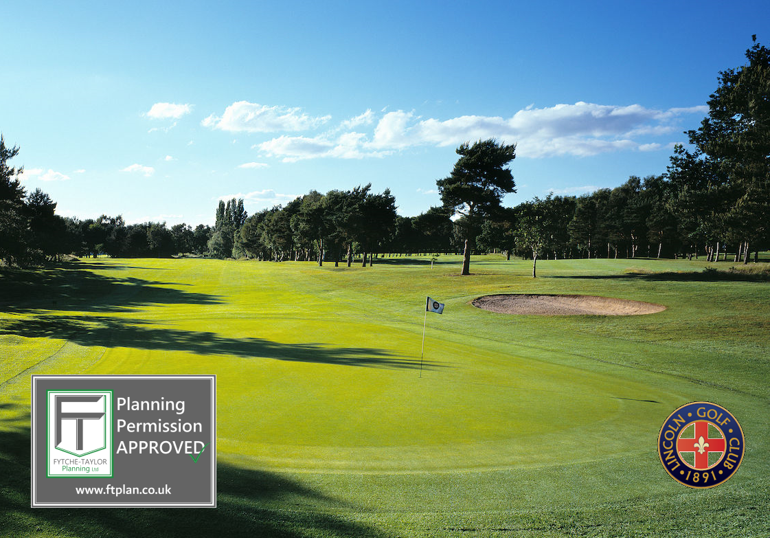 New Golf Pro Studio at Lincoln Golf Club. Planning Permission secured by Fytche-Taylor Planning Ltd.