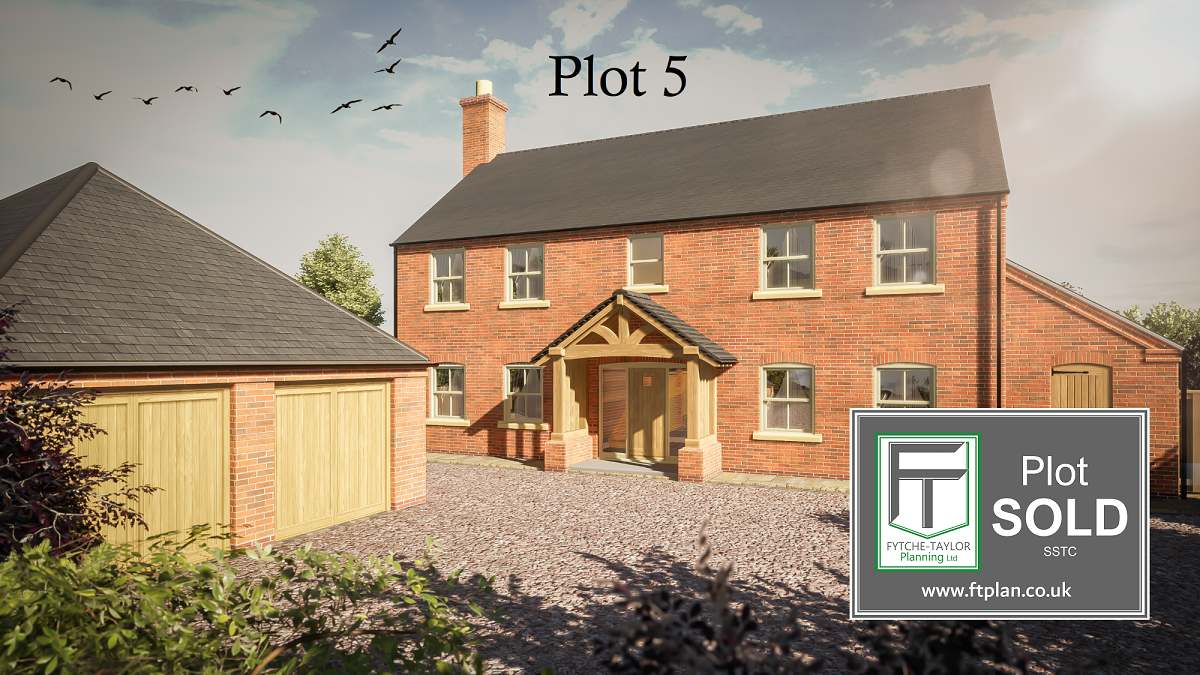 Plots for sale in an exclusive development of 5 bespoke family homes, each with full planning permission for a 5 bed detached property