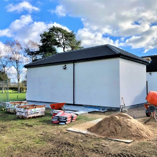 New PGA Golf Pro Studion under construction at Lincoln Golf Club - Planning Permission secured by Fytche-Taylor Planning