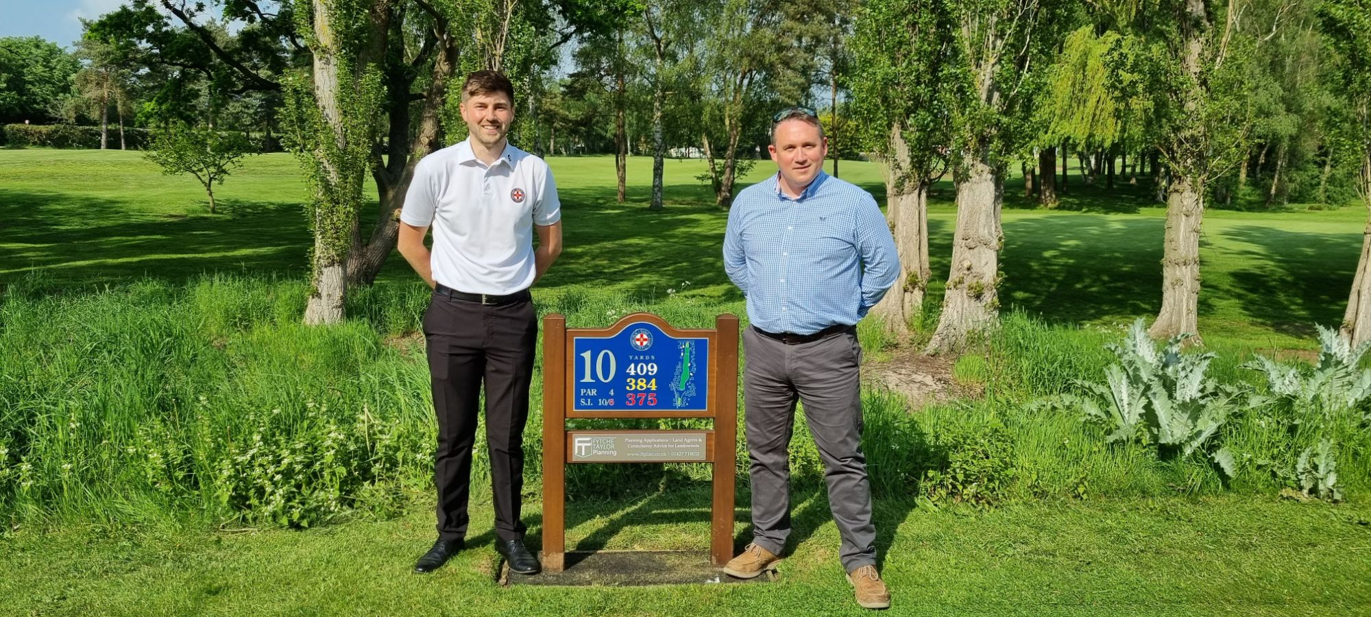 New Sponsorship Deal Announced at Lincoln Golf Club - Fytche-Taylor Planning Ltd Managing Director Oliver Fytche-Taylor with club manager Louis Booth