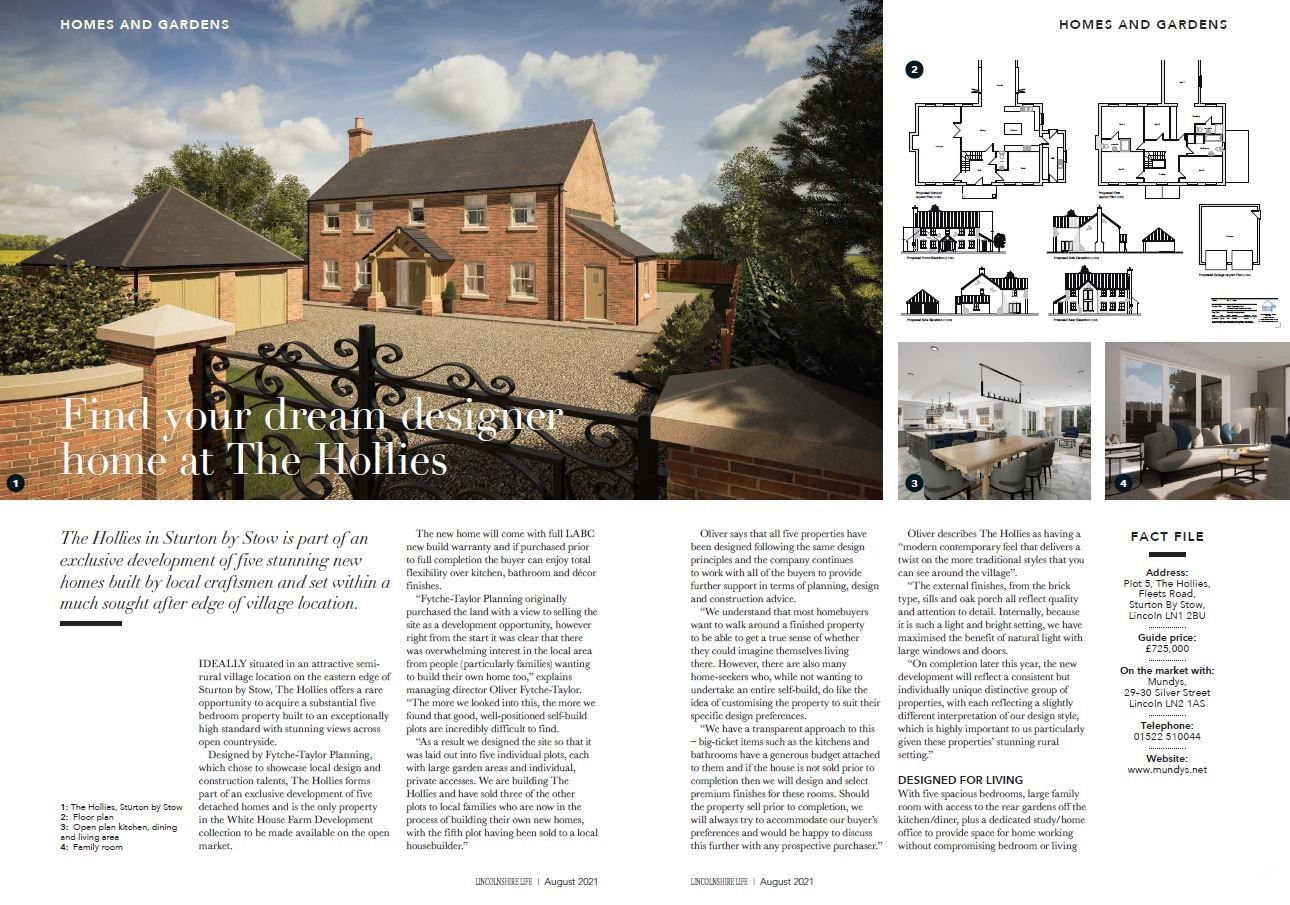 Preoprty of the Month -  luxury new build home for sale near Lincoln