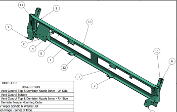 MRC 2424 - Bulkhead Upper Assembly, Late Series 3 Lightweight