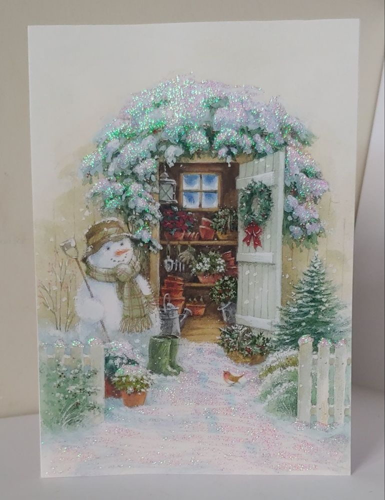 Snowman with Shed