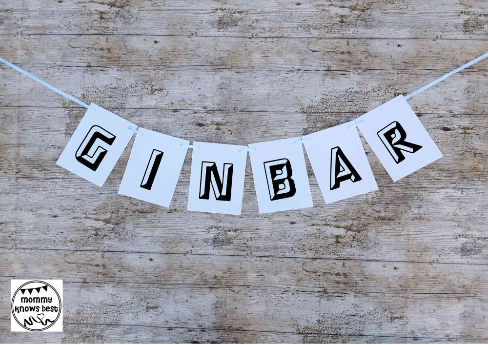 GIN BAR Waterproof Bunting