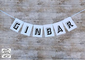 GIN BAR Waterproof Bunting - FREE POSTAGE