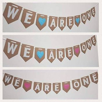WE ARE ONE First Birthday Bunting. FREE POSTAGE