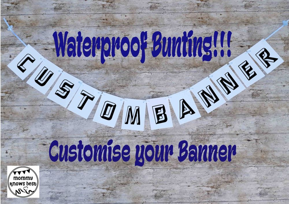 Customised Waterproof Bunting