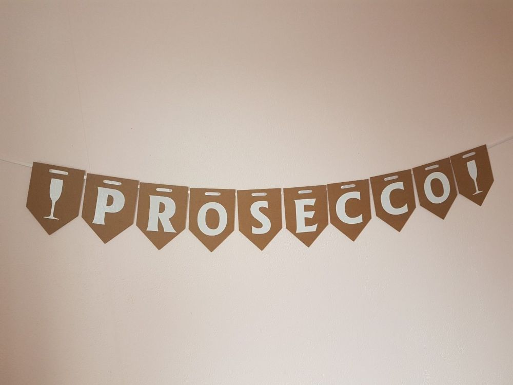 """PROSECCO"" Bunting. Party Banner. FREE POSTAGE"