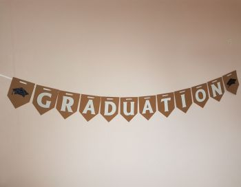 GRADUATION Banner / Bunting. FREE POSTAGE