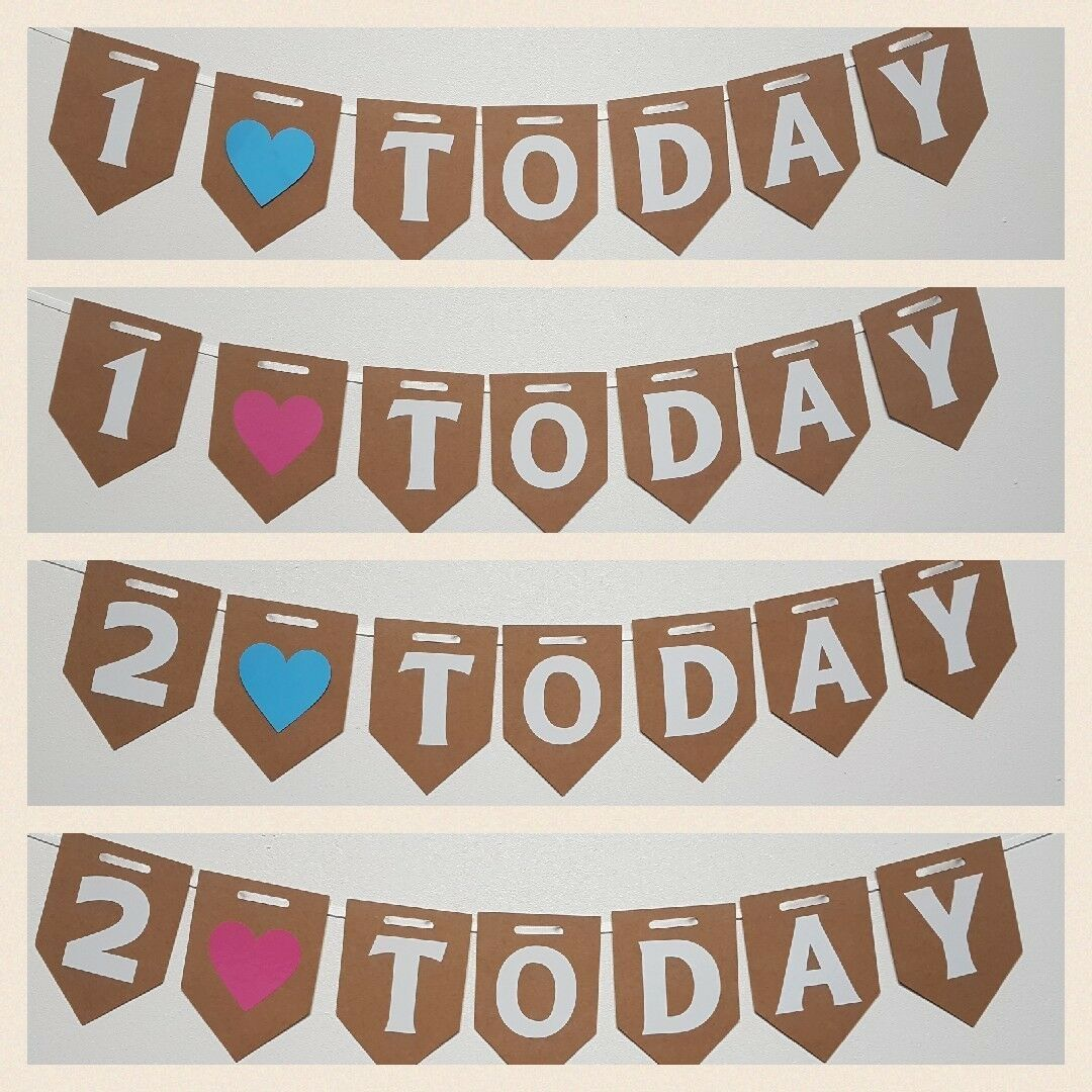 1 TODAY Bunting. FREE POSTAGE