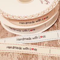 Handmade with L♥️ve  ribbon 16mm - 2 metres