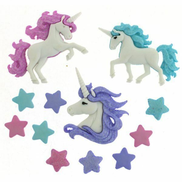 Dress It Up unicorn buttons FREE POSTAGE
