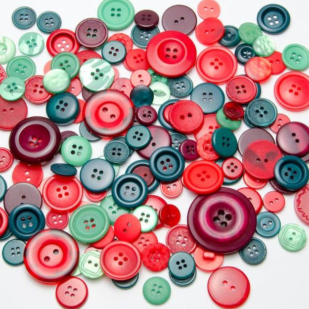 50g Christmas Buttons