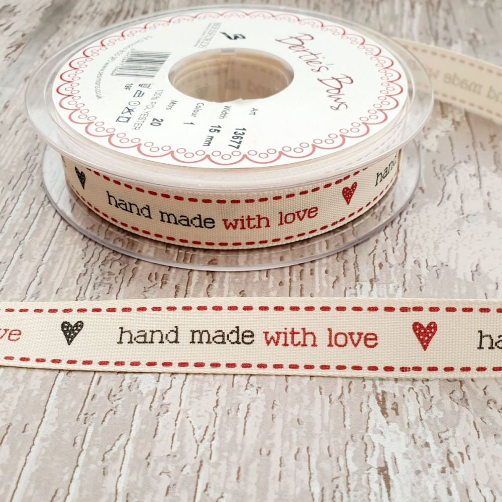 ♥️Handmade with love ♥️ ribbon - 2 metres