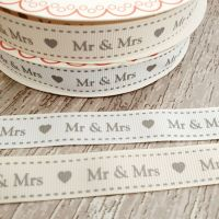 Mr and Mrs ribbon 16mm - 2 metres