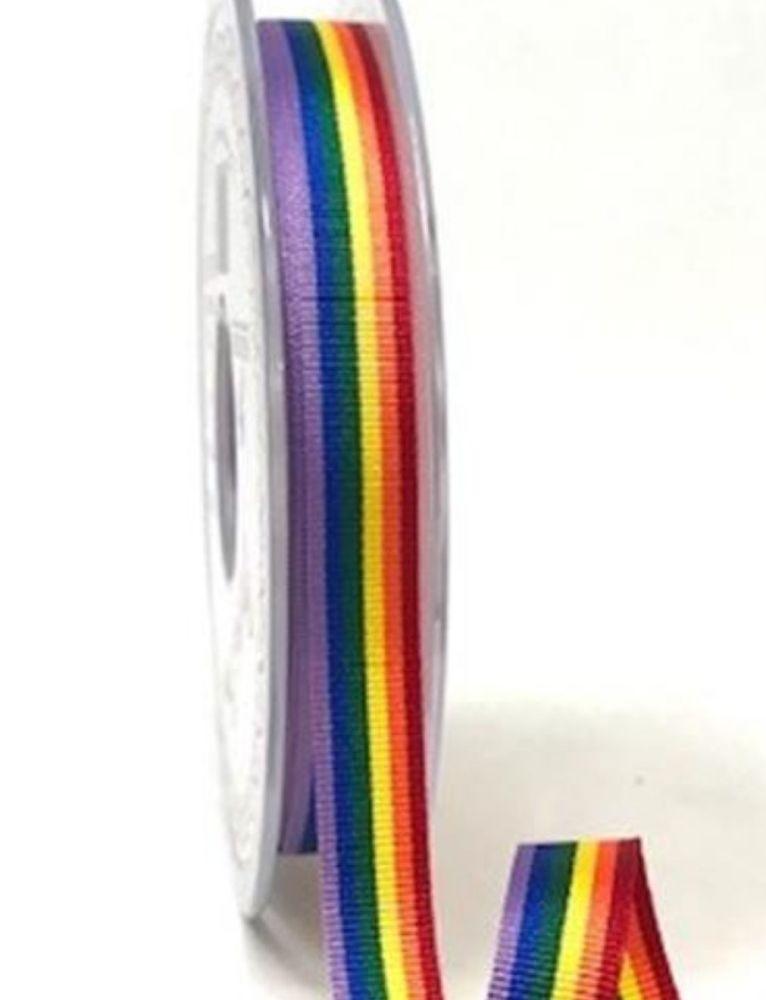 Rainbow ribbon 10mm - 2 metres