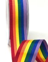 Rainbow ribbon 25mm - 2 metres
