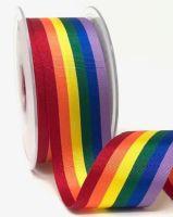 Rainbow ribbon 35mm - 2 metres