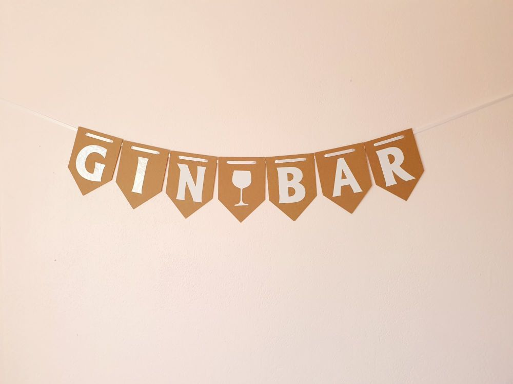 """GIN BAR"" Bunting. Party Banner. FREE POSTAGE"