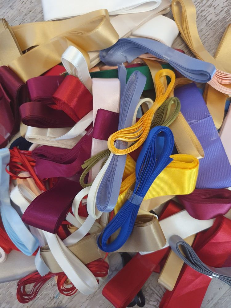 3 x 3 Metre Mixed ribbon bundle  - Plain