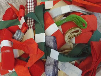 3 x 3 Metre CHRISTMAS mixed ribbon bundle