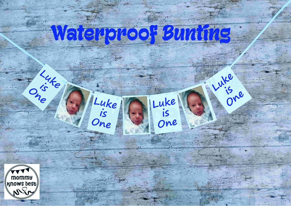 Waterproof 1st Birthday Bunting