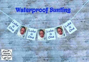 Waterproof 1st Birthday Bunting