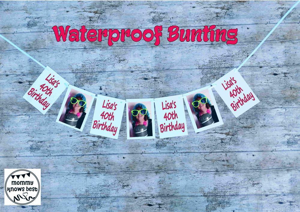 Waterproof Birthday Bunting