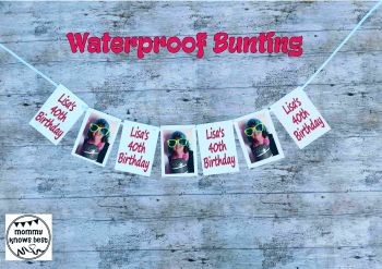 Waterproof Birthday Bunting