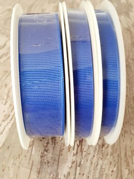 Grograin Ribbon - BLUE - 20 metre reels. 10mm, 15mm or 22mm