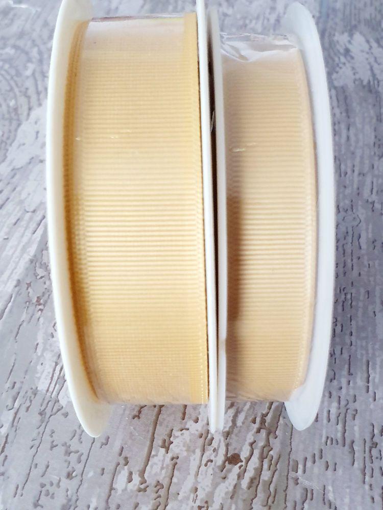 Grograin Ribbon - GOLD - 20 metre reels. 10mm, 15mm or 22mm
