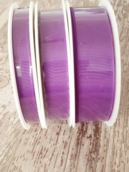 Grograin Ribbon - PURPLE - 20 metre reels. 10mm, 15mm or 22mm