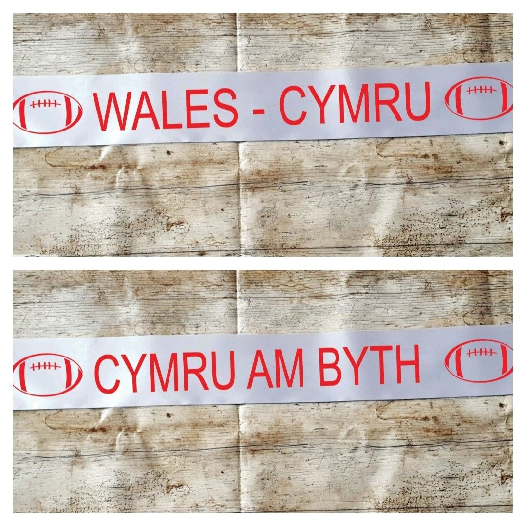 Wales rugby world cup banner. Party decoration. Swing Low