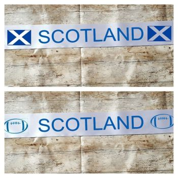 Scotland rugby world cup banner. Party decoration. Saltaire