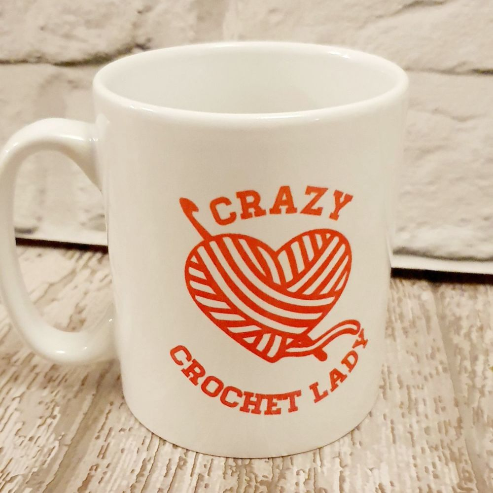 Crazy Crochet Lady Mug.