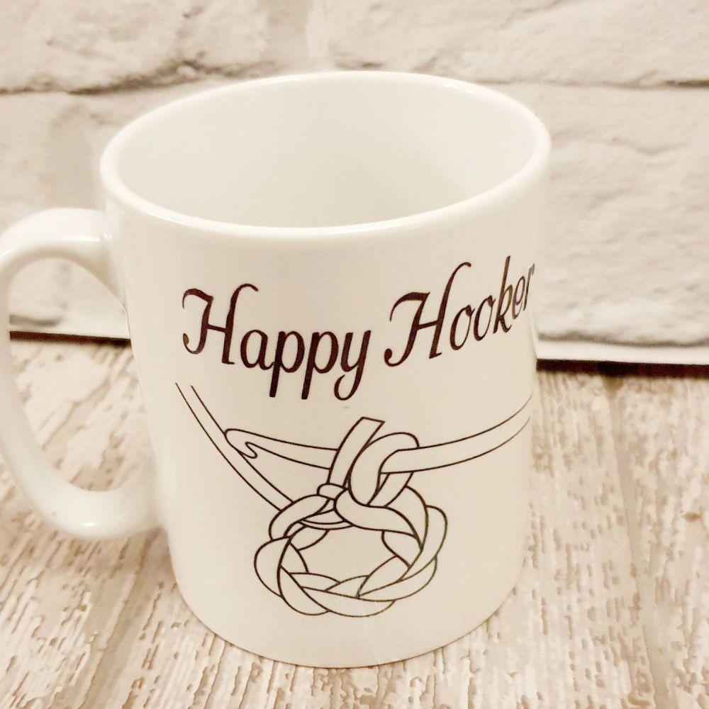 Happy Hooker Mug. Crocheting lovers mug