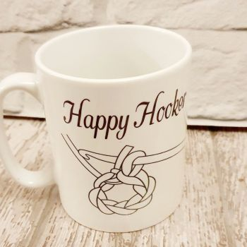 Happy Hooker Mug. Crocheting lovers mug