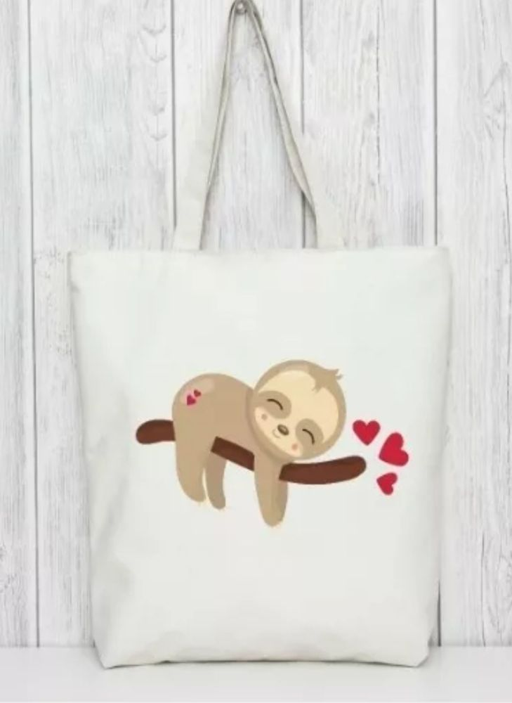 SLOTH - SLEEPING tote bag. Bag for life.
