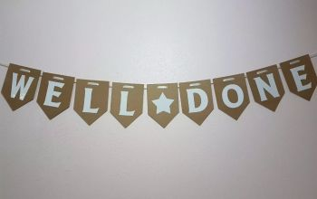 WELL DONE Banner / Bunting. FREE POSTAGE