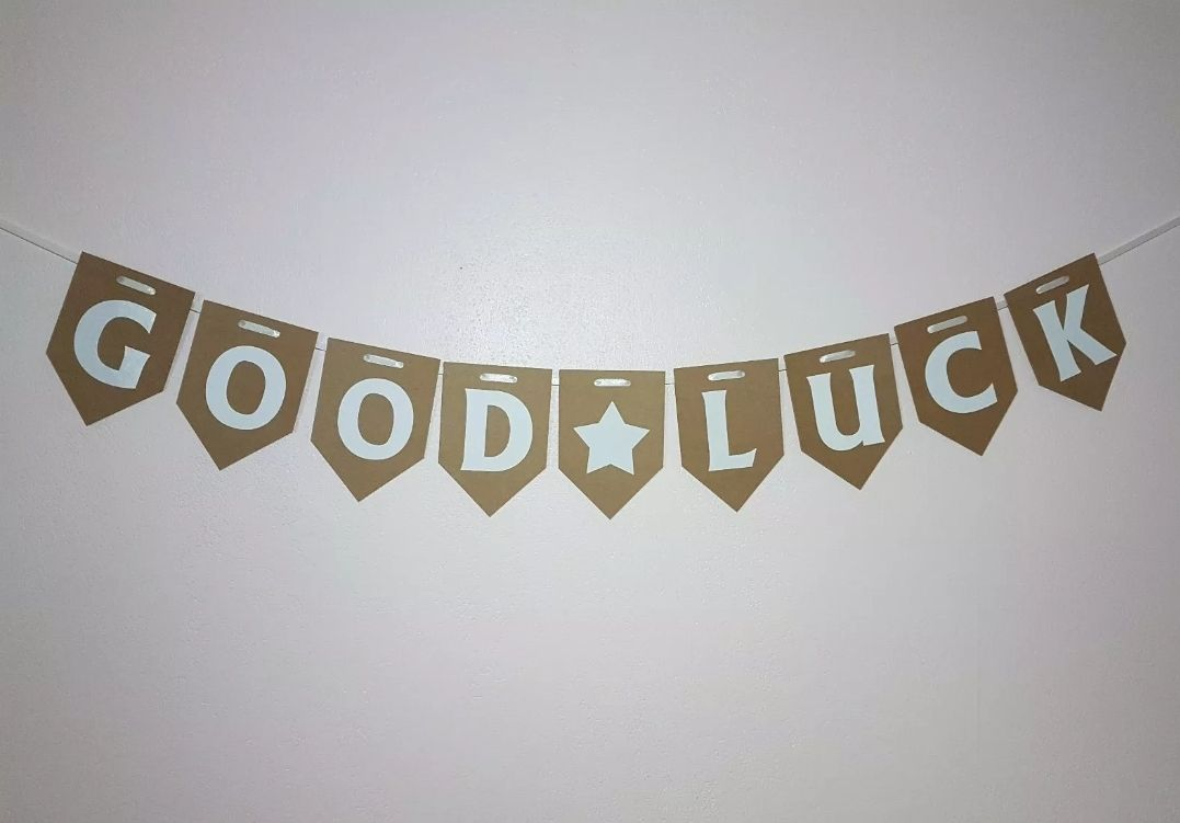 GOOD LUCK Banner / Bunting. FREE POSTAGE