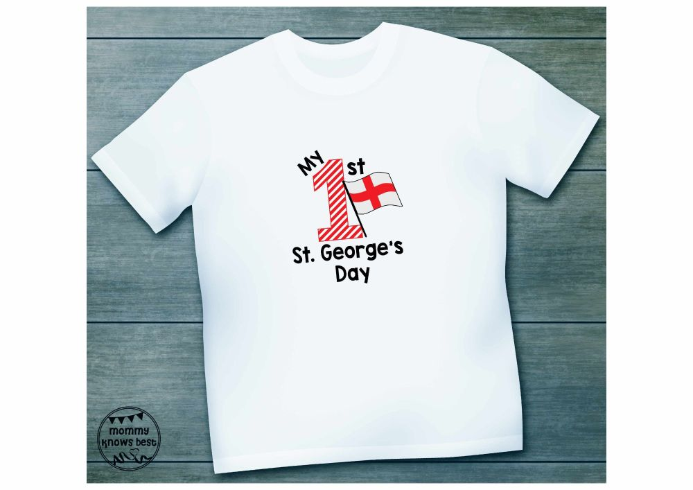 My First St George's Day Childrens Tshirt.
