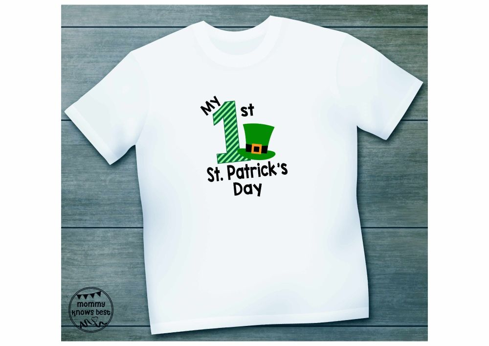 My First St Patrick's Day Childrens Tshirt - image with hat