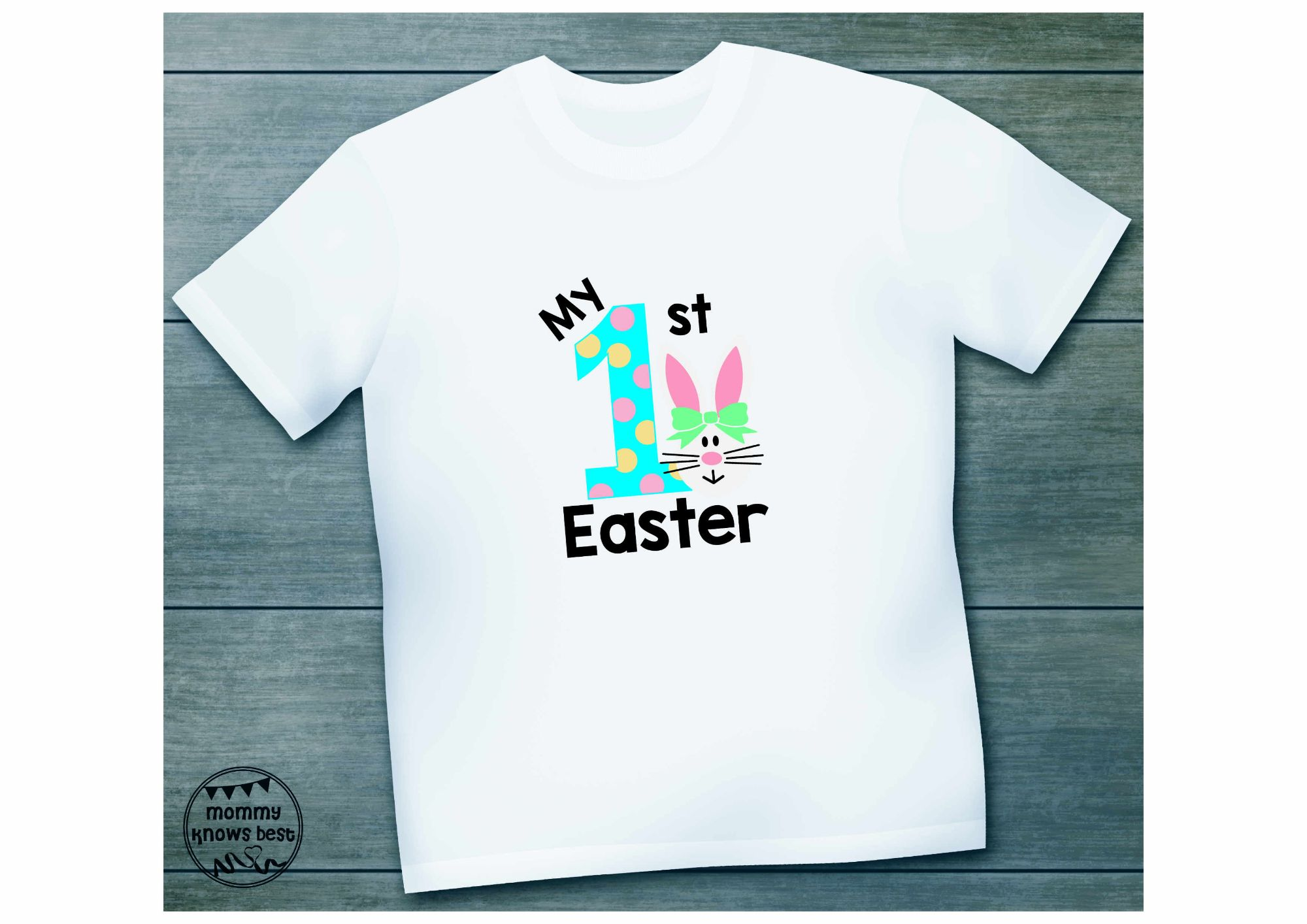 Kids Tshirt Easter girl bunny.jpg