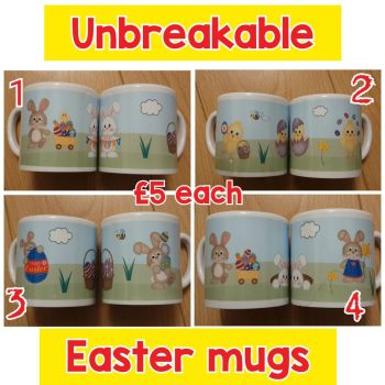 Children's Easter mugs