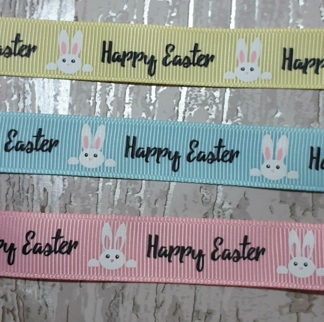 Happy Easter  ribbon 16mm - 2 metres