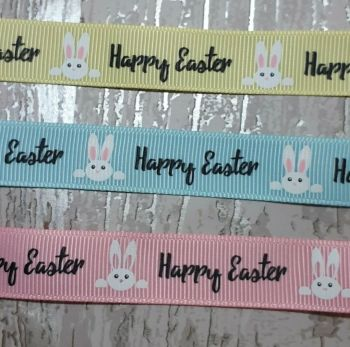 Happy Easter  ribbon 16mm - 2 metres